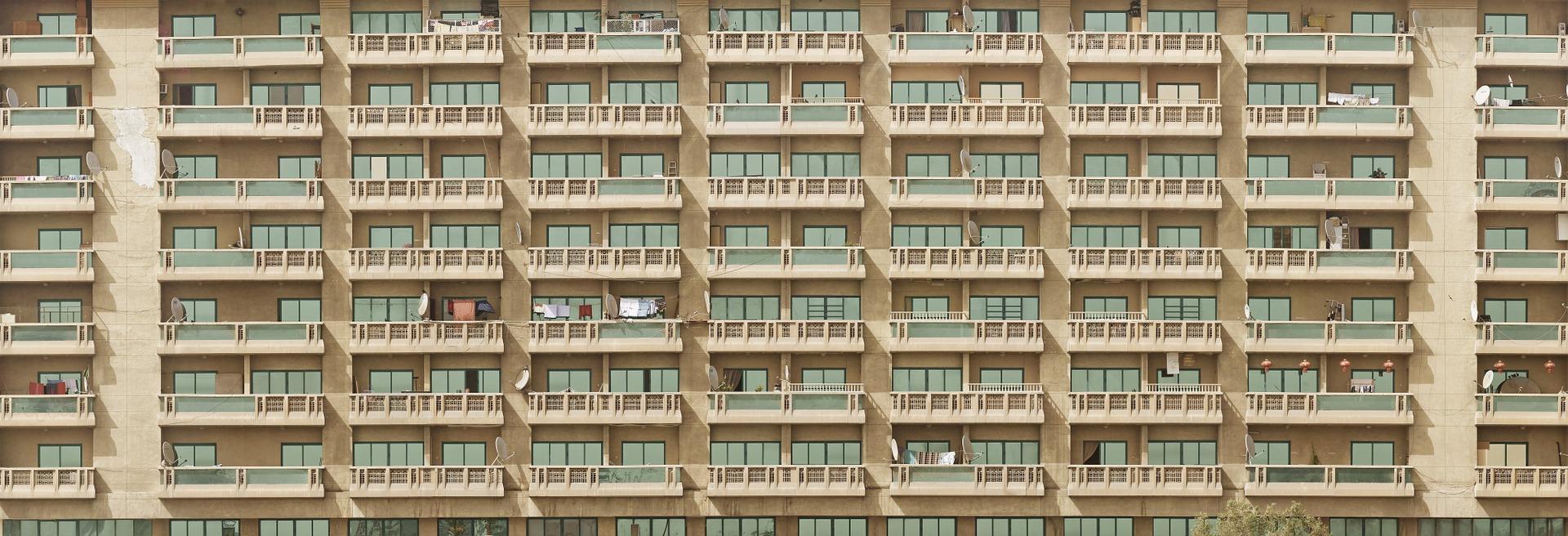 Apartment block facade